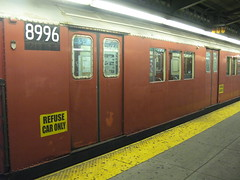 secret trains of NYC subway (nicknormal) Tags: nyc underground subway garbage gothamist trashtrain refuseonly