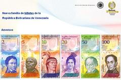 Billetes del Bolívar Fuerte - Anversos