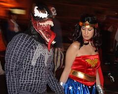 Village Halloween Parade - Venom & Wonder Woman (jbparker) Tags: nyc newyorkcity newyork halloween costume lenstagged manhattan spiderman parade wonderwoman halloweenparade venom villagehalloweenparade canon1785f456