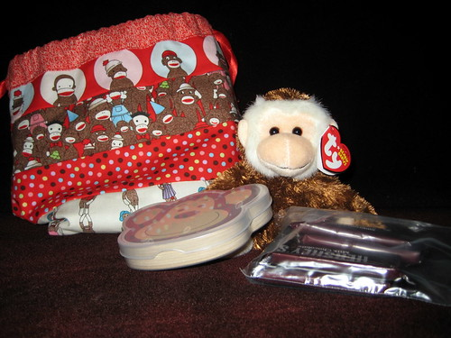 Monkey sock swap - monkey angel