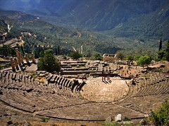Delphi theatre (bekahpaige) Tags: greek temple oracle ancienthistory ancient ruins europe theatre delphi greece civilization greekmythology architecure ancientgreece supershot 10faves abigfave anawesomeshot impressedbeauty aplusphoto