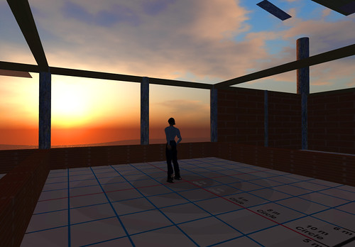 Sunset from the construction platform