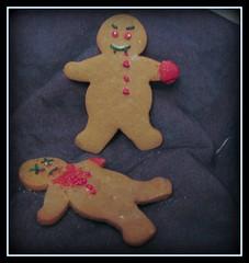 evil gingerbread tableau