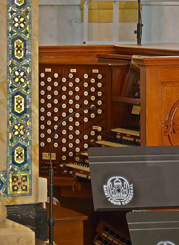 Cathedral Basilica of Saint Louis, in Saint Louis, Missouri, USA - organ console