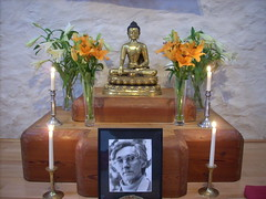 Dhanakosa shrine with Bhante