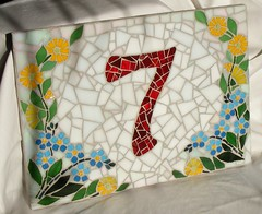 House number plaque (stiglice - Judit) Tags: mosaic mosaique housenumber mozaiek mozaik