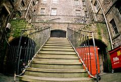 Splitting Steps (The End Of Print) Tags: lomo lca edinburgh wideanglelens