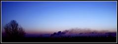 Bruci la Città (@Azathoth@) Tags: sunset skyline fuoco fumo