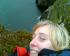 Dorota at a Great Height (rosscads) Tags: cliff edge westcork threecastleshead