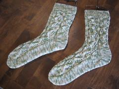 Embossed leave socks