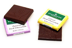 Flavored Dark Chocolates from Starucks