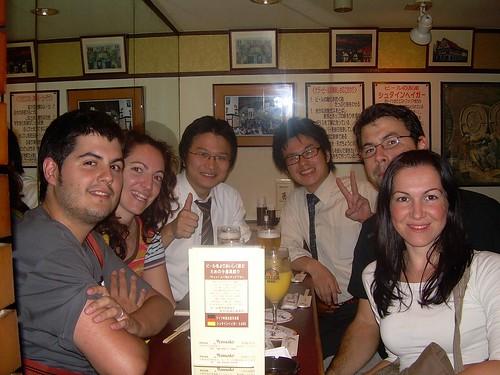 Pau, Vero, Hiromu and cia, Juan y Mónica en Osaka