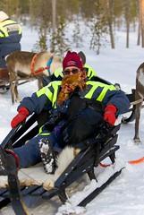 Finland Saariselk _DSC18447 (youngrobv) Tags: snow ice animal animals suomi finland reindeer nationalpark nikon europa europe inari ale freezing deer arctic lapland snowing d200 finnish caribou sleigh saariselk notc 0804 arcticcircle sleighride belowzero lappi sami saariselka urhokekkonen 70200mmf28gvr sleighs rangifertarandus urhokekkonennationalpark youngrobv lapinlni suoloielgi snowsleigh snowsleighs dsc18447 lapplandsln