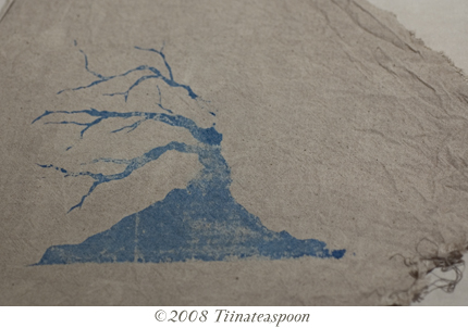 Tree print on calico