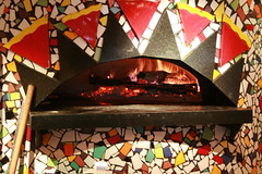 The oven at Wolfgang Puck Express: LAX