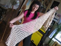 Mom's Shawl Completed