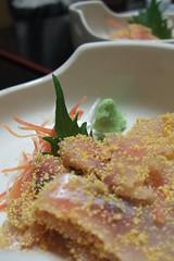 Shiga Cuisine: funa no ko + funa sashimi