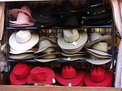 Hats, lots of hats (Dreek Leeds) Tags: colour cowboy texas hats olympus e20