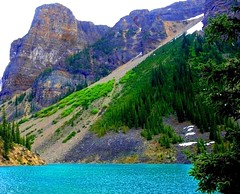 Moraine Lake, Banff National Park, Alberta (a walk on the wild side nature photography) Tags: banff albertacanada glaciallake lakemoraine 5photosaday platinumphoto colorphotoaward colourartaward
