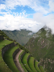 Terraces over Space (icelight) Tags: world vacation mountains peru machu picchu inca stone architecture ruins terrace engineering jungle valley andes herritage
