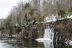 Outflow area behind the Lake Nockamixon dam (T.M.Peto) Tags: lakenockamixon buckscounty pennsylvania water watercourse ice icicles icy rocks snow winter wintertime winterscene trees pines stream cliff icewall rockwall landscape landscapephotography scenicsnotjustlandscapes nikond3300 nikon nikonphotography outdoor outdoors getoutdoors getoutside southeasternpa pennsylvaniaisbeautiful tohickon breathtakinglandscapes