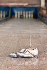Bowling Shoes (no3rdw) Tags: urban abandoned ball private alley shoes peeling paint pin factory decay 100mm bowling exploration manufacturer urbex