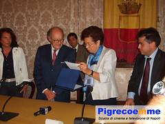 Ugo Gregoretti Premiato alla Sala Giunta del Comue di Napoli