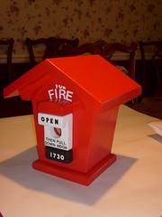 Fire Box Birdhouse (Geo Birdhouse) Tags: red alarm fire open box painted birdhouse handcrafted wren emergency geobirdhouse firealarmpullbox