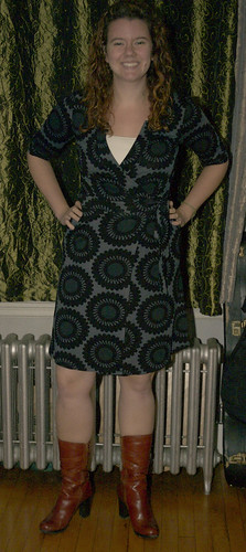 My New Wrap Dress and New Boots