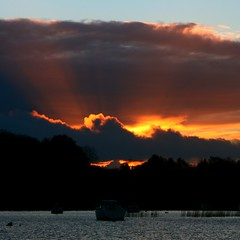 october sunset (limerickdoyle) Tags: ireland sunset red cloud lake october lakeview countyclare mountshannon loughderg efs1785mm canon400d