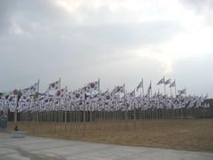 Korean Flags at KIH