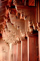 Columns at The Red Fort Agra (greenwood100) Tags: world red india heritage architecture rouge indian agra unesco akbar inde lal pradesh redfort shahjahan moghuls humayun qila mughal uttarpradesh jehangir mughals babur fuerterojo aurangzeb forterosso utttar greatmughals