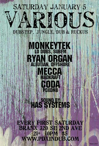 Various at Branx, Monkeytek, Ryan Organ, Meccaa, Coda