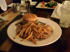 Chicken sandwich and pommes frites