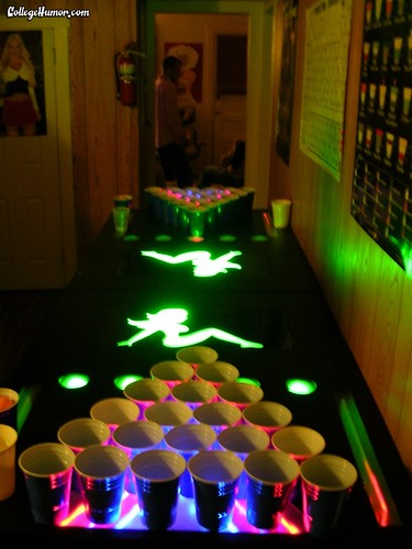 sexy beer pong table