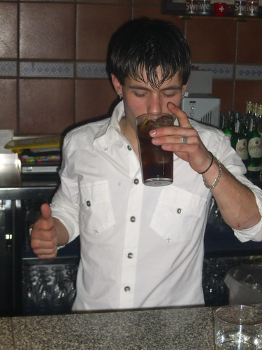 Bartender testing for poison
