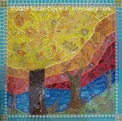 Sierra Fall Finished! (sucra88) Tags: autumn trees red orange fern fall nature glass beauty leaves northerncalifornia yellow forest landscape outdoors woods peace seasons walk mosaic mixedmedia mosaics nevadacity sierra change wilderness breathe fam humble grassvalley wallhanging nevadacounty sierrafoothills mosaicart temperedglass susancrocenzi