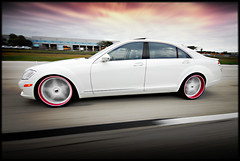 Pretty on Pink (Sevas R5) (GREATONE!) Tags: street pink sky white motion clouds photography mercedes nikon skies florida miami wheels william mia d200 fla stern r5 s550 sevas