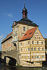 Bamberg: Altes Rathaus (Old Town Hall) (bill barber) Tags: bridge art window architecture germany bavaria artwork arch decoration n craft bamberg franconia plaster belltower belfry ornament german attic alemania kraftwerk halfframe baroque tyskland allemagne sup barock bundesrepublik faade casanova gable germania alemanha kraft fassade duitsland deutsche dormer ornamentation fachwerk cantilever craftwork halftimber regnitz frankonia billbarber steigerwald dectoration doitsu niemcy supershot njemaka saksa nmetorszg golddragon njemacka  nemecko abigfave platinumphoto anawesomeshot flickrenvy diamondclassphotographer flickrdiamond citrit betterthangood wdwbarber awesomepictureaward dragongold williambarber bbarber1 mscasanova germnia maierbmaarkitektur archisterpiece