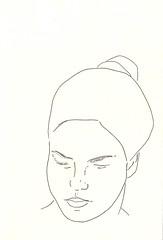 Retrato de Marta (Heart Industry) Tags: portrait girl drawing retrato line serene draw dibujo linea grabado serenidad
