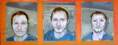 Three Studies Into Recoil (whalecrow) Tags: painting drawing contemporaryart figurative andyfoulds whalecrow tomdefreston