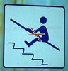 Funny Sign - MALE stick Figure in Peril by Badger 23