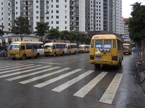 E-Mart buses in Feihong Road