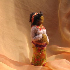 needle felted pregnant mama (haddy2dogs) Tags: felted etsy haddy2dogs