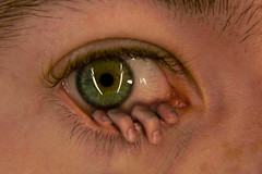 The Eye (Bobshaw) Tags: portrait green eye photoshop self scary funny hand surrealism fingers surreal creepy nails theeye jessicaalba bobshaw yagh