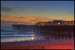 Pacific Beach (lh) Tags: ocean california blue houses sunset red sea beach beautiful yellow night clouds reflections pier sand long exposure waves purple shot pacific sandiego crystal walk rental pb boardwalk pilings blueribbonwinner bluephoenix cotcpersonalfavorite overtheexcellence
