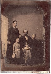 Civil War veteran Joshua John Casey  and his wife Ellen Ham-Casey.  Children L-R are Carrie, Bert, and George; about 1878. (David C. Foster) Tags: family 2 infantry casey nc northcarolina confederate 2nd civilwar veteran goldsboro waynecounty