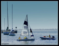 Sailing school Eastern Beach Geelong (RonShowler) Tags: sea water boats sailing geelong easternbeach platinumphoto impressedbeauty brillianteyejewel theperfectphotographer goldstaraward