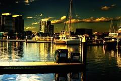 dockscape #2 (mugley) Tags: water architecture clouds marina buildings river boats nikon d70 newquay australia melbourne victoria yarra docklands boyd pontoons urbanlandscape palladio victoriaharbour conder digitalharbour 3570mmf3345af port1010