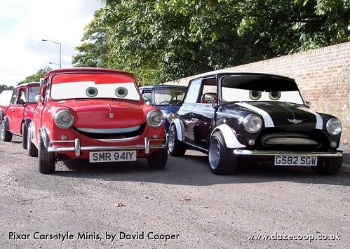 Pixar cars style Minis
